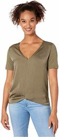 Kenneth Cole New York Slip Knot Mixed Media Tee
