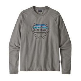 M's Fitz Roy Hex Lightweight Crew Sweatshirt, Feat