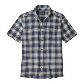 M's Steersman Shirt, Protester Plaid: Stone Blue (