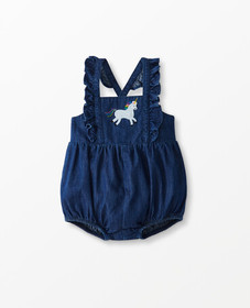 Hanna Andersson Chambray Overall One Piece in Medi