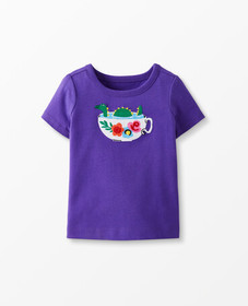 Hanna Andersson Sueded Jersey Art Tee in Purple Hi
