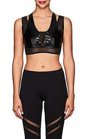 Electric Yoga Widow Faux-Leather Sports Bra