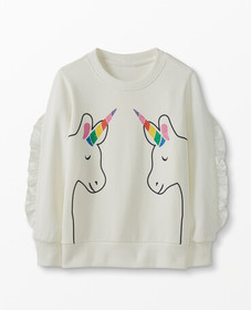 Hanna Andersson Unicorn Sweatshirt In French Terry