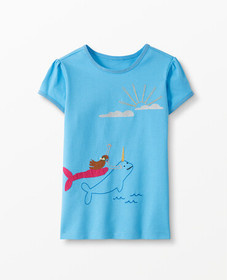 Hanna Andersson Make Believe Art Tee in Map Blue -