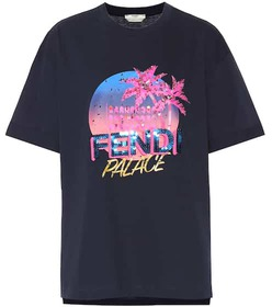 Fendi Cotton sequined logo T-shirt