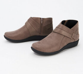 CLOUDSTEPPERS by Clarks Exposed Ankle Booties - Si