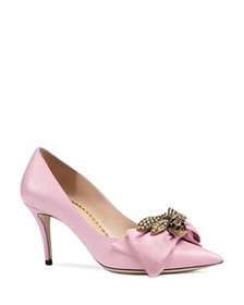 Gucci - Women's Embellished Leather Pumps