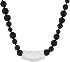 """""""As Is"""" Simon Sebbag Sterling Silver Mixed Onyx Ma"""
