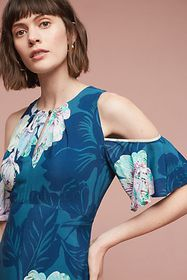 Anthropologie Elia Open-Shoulder Dress