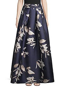 Eliza J Floral Ball Gown Skirt NAVY