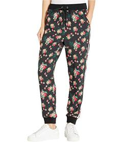 Juicy Couture Faded Floral Silk Print Mix Slim Pan