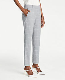 The Tall Ankle Pant In Windowpane
