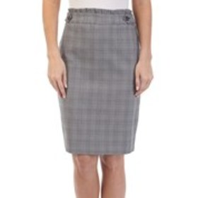 Plaid Pull-on Pencil Skirt