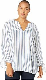 MICHAEL Michael Kors Plus Size Double Stripe Tie T