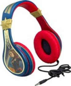 eKids - Captain Marvel Wired Over-the-Ear Headphon