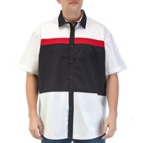 Big & Tall Color Block Short Sleeve Button Down Sh