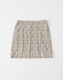 A-Line Skirt, YELLOW FLORAL