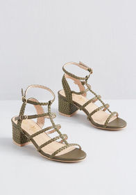 Bravely Braided Block Heel Olive