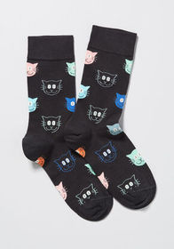 Happy Socks Happy Socks I'm All Eyes Cat Socks Bla