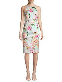 Black Halo Sea Montego Floral Sheath Dress BOTANIC