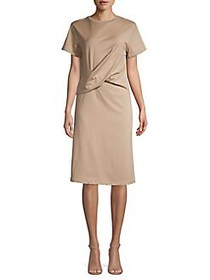 CAARA Poella Folded Shift Dress BROWN