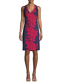 Tommy Bahama Floral Sheath Dress ISLAND NAVY