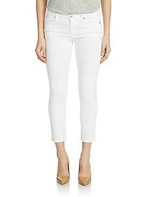 7 For All Mankind Kimmie Cropped Jeans WHITE