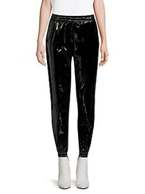 MICHAEL Michael Kors Patent Faux-Leather Joggers B