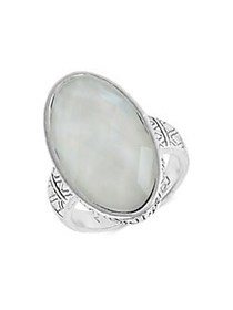 Lucky Brand Floral Tribes Silvertone Ring SILVER
