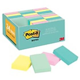 Post-it® Notes, 1.5 x 2 Marseille Collection, 100