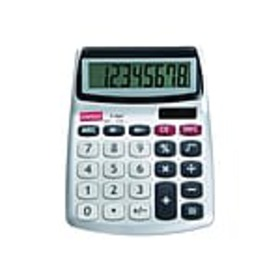 Staples SPL-230 8-Digit Desktop Calculator, Silver