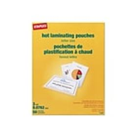 Staples Thermal Pouches, Letter, 50/Pack (17467)