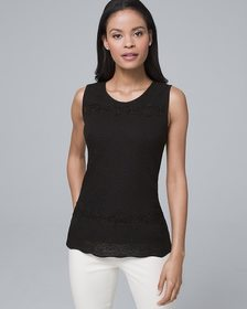 Lace-Trim Sweater Tank