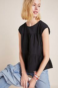 Anthropologie Kirby Babydoll Top