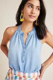 Anthropologie Cloth & Stone Clearwater Swing Tank