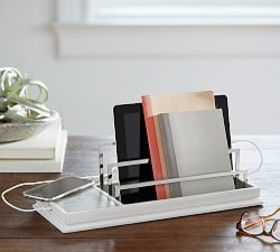 Pottery Barn Wireless Charging Station with USB Po