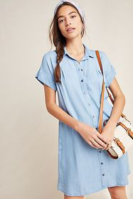 Anthropologie Cloth & Stone Janine Chambray Shirtd