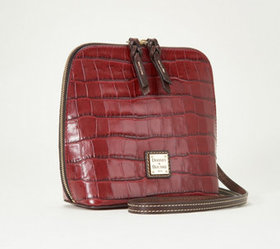 """As Is"" Dooney & Bourke Croco Leather Crossbody- T"