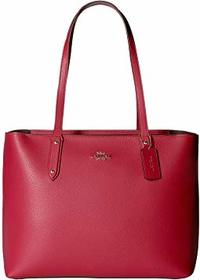 COACH Polished Pebble Leather Central Tote with Zi