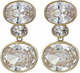 Nina Horizontal Oval Drop Earrings