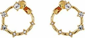 Vince Camuto Wraparound Stone Clip Hoop Earrings