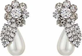 Nina Gwinia Floral Pearl Clip Earrings