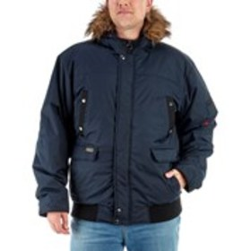 J. WHISTLER Big & Tall Bomber Jacket with Faux Fur
