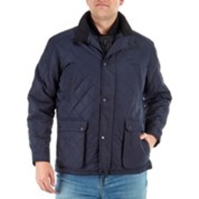 LONDON FOG Mens Quilted Coat With Bib
