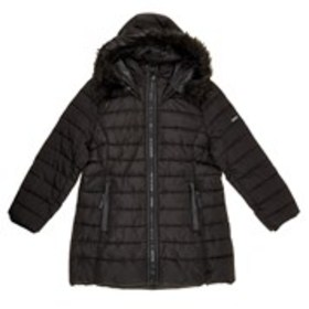 XOXO Girls Hooded Faux Fur Parka with Faux Leather