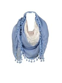 Marc New York Oblong Scarf w/ Lace
