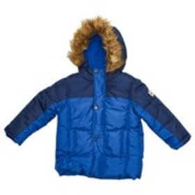 BEN SHERMAN Toddler Boys Faux Fur Trim Hooded Park