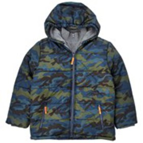 ROTHSCHILD Boys Hooded Puffer Coat with Knit Veste