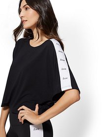 """Love"" Crop Dolman Top - Soho Street - New York &"