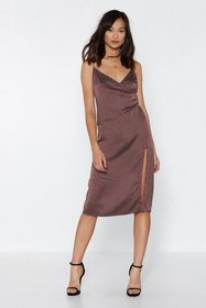 Nasty Gal Womens Chocolate Got the Dots for You Mi
